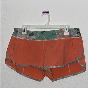 Lululemon Orange Running Shorts